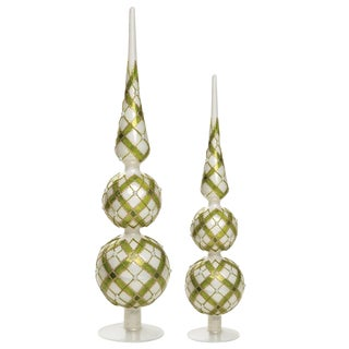Napa Home & Garden Wintergreen Glass Finials - a Pair For Sale