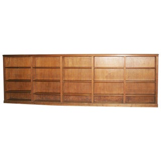1930s Vintage Knotty Pine Bookcase For Sale