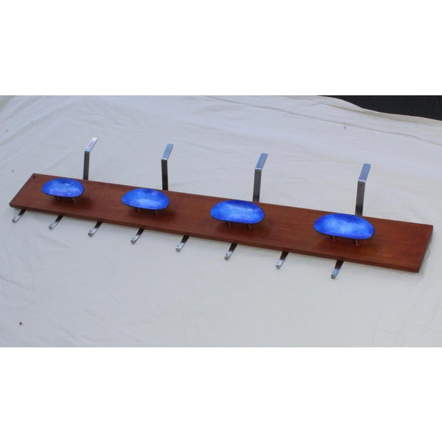 Mid-Century Modern Paolo De Poli Attributed Enamel Coat Rack For Sale - Image 3 of 11