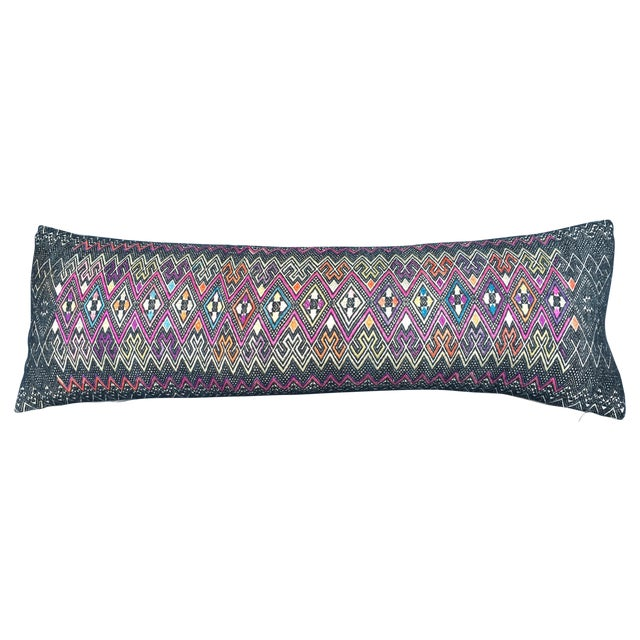 Antique Intricate Handwoven Tribal Textile Pillow - Image 1 of 9