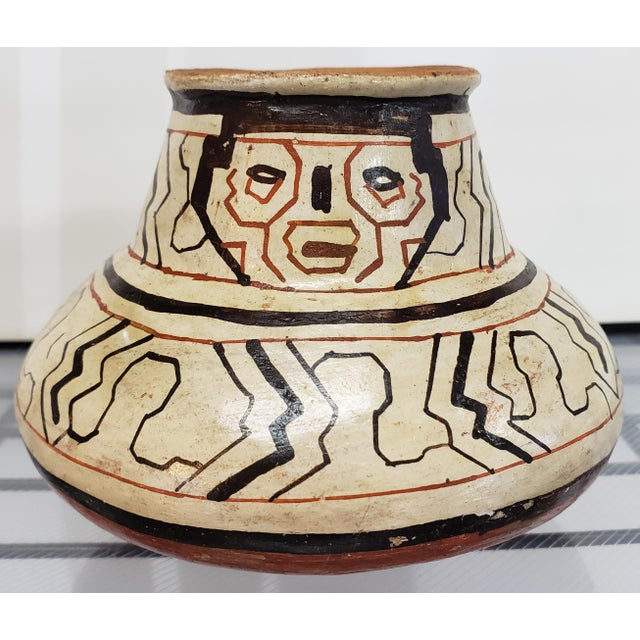Clay Mid 20th Century Peruvian Shipibo Pottery Clay Figural Olla Vessel Signed Nelita For Sale - Image 7 of 7