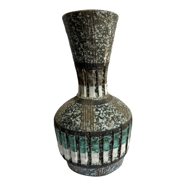 Mid 20th Century Speckled Italian Vase For Sale