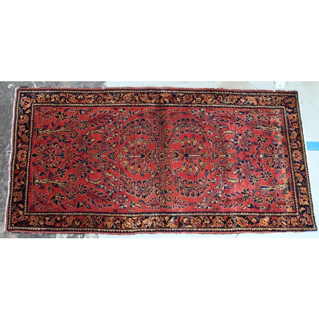 1900s, Handmade Antique Persian Sarouk Runner 3.2' X 7.10' For Sale In New York - Image 6 of 12