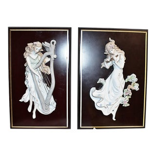 Figural Wall Plaques - A Pair