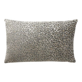 Aldeco Leopard Lumbar Pillow in Gray For Sale