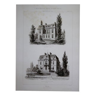 Cesar Daly 19th Century Architectural Drawing VI For Sale