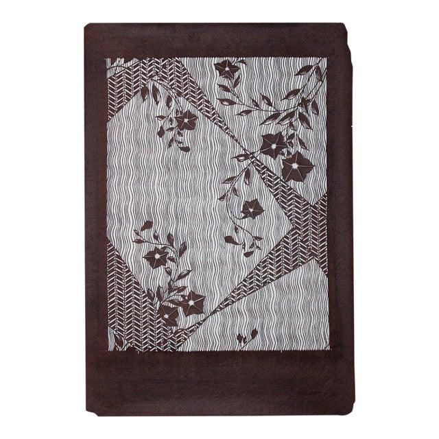 9b1484c8e Large Antique Japanese Kimono Fabric Print Design Hand-Cut Stencil Katagami  For Sale