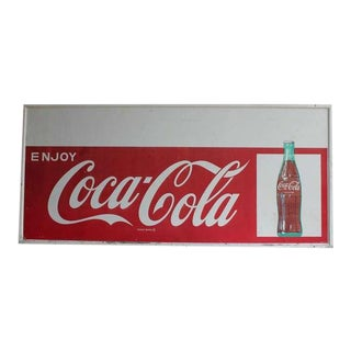 1960's Original Coca Cola Sign With Personality Panel