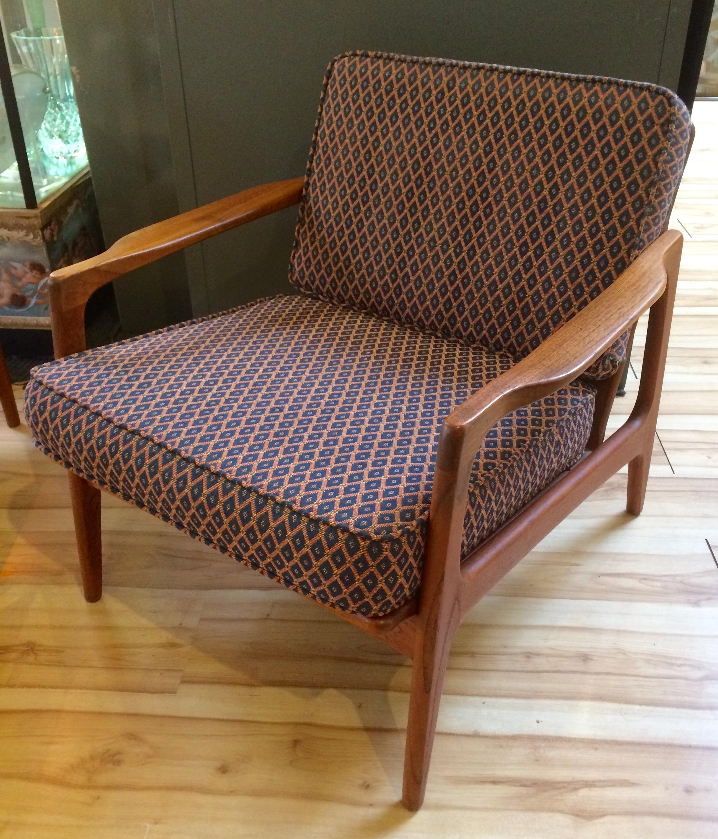 Asian 1960s Japanese Modern Teak Lounge Chair For Sale   Image 3 Of 10
