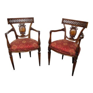 Louis XVI Style Dining Armchairs - a Pair For Sale