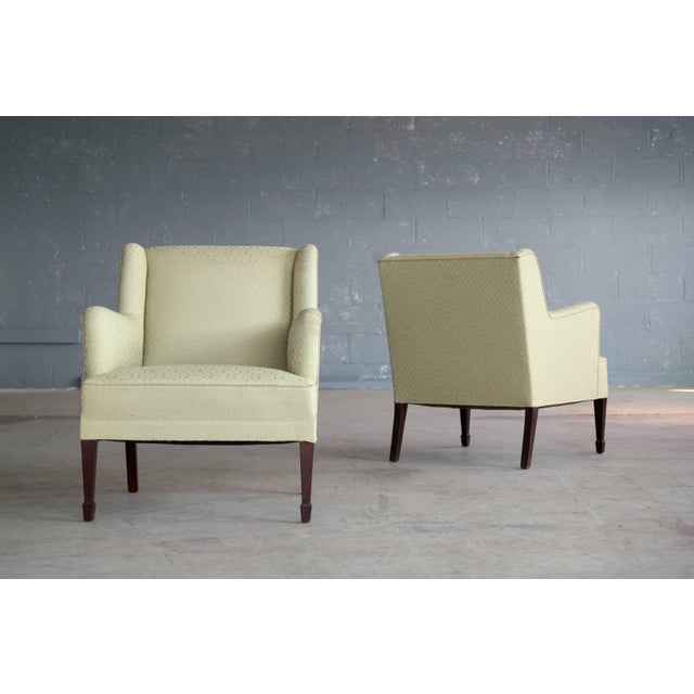 Green Danish Mid-Century Pair of Lounge Chairs by Frits Henningsen For Sale - Image 8 of 8