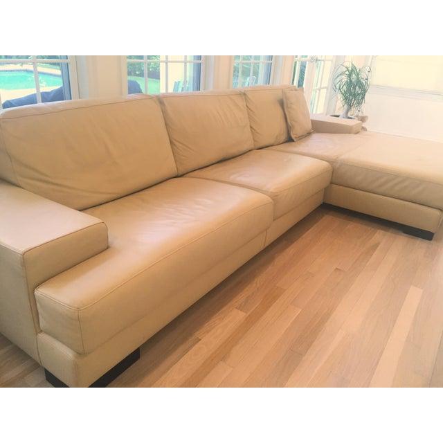 Ver Design Cream Leather Armonia Sofa - Image 3 of 7