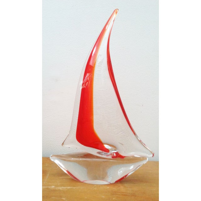 Vintage Murano Glass Sailboat - Image 3 of 5