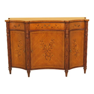 Traditional Jonathan Charles Large Inlaid Commode Cabinet For Sale