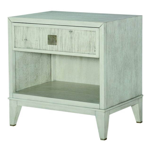 Century Furniture Carlyle 1 Drawer Nightstand, Peninsula Finish For Sale