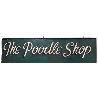 1950's Vintage Poodle Shop Sign For Sale