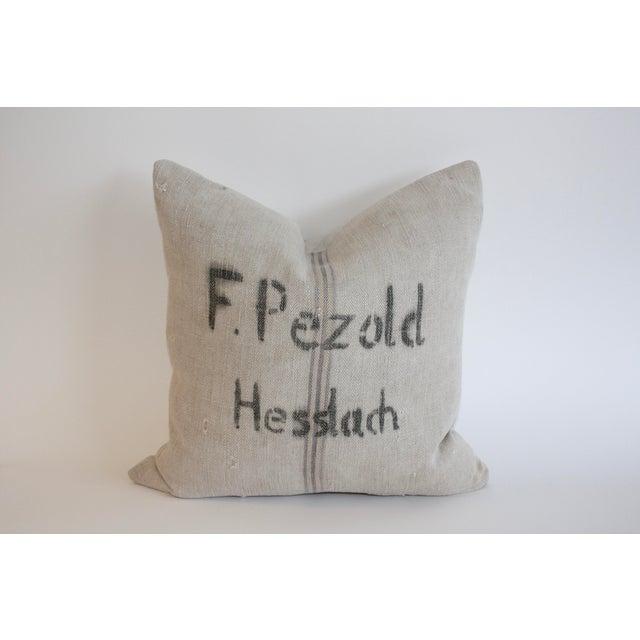 Vintage Grain Sack Pillow - Image 2 of 4