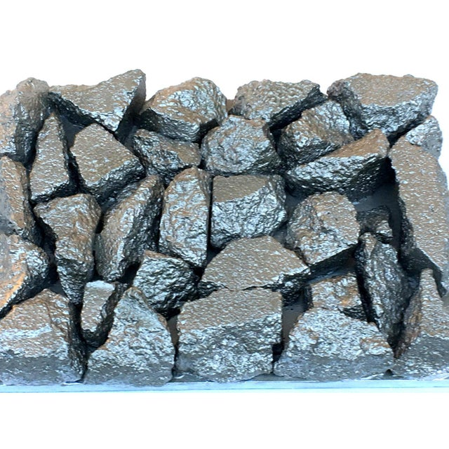 "Suga Lane ""Gilt Peligroso"" Brutalist Inspired Silver Rock Sculpture For Sale - Image 4 of 11"