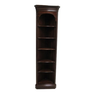 Ethan Allen Chippendale Georgian Court Corner Shelf Display Cabinet Hutch For Sale