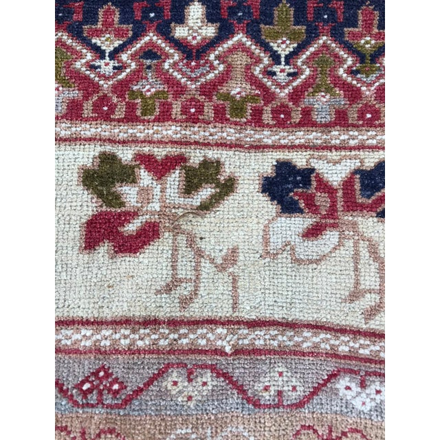 Turkish Vintage Anatolian Oushak Rug For Sale - Image 3 of 4