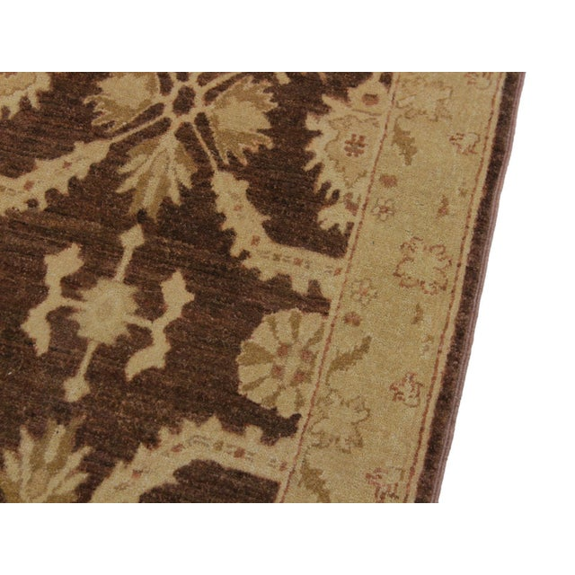 1990s 1990s Vintage Nobuko Brown/Tan Hand-Knotted Wool Rug - 2′6″ × 9′8″ For Sale - Image 5 of 8