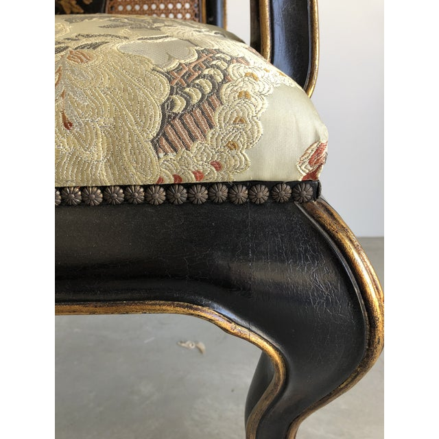 Vintage Chinoiserie Dining Chairs - Set of 10 For Sale - Image 10 of 12
