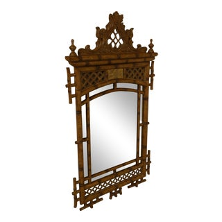 Maitland Smith Chinese Chippendale Style Beveled Mirror For Sale