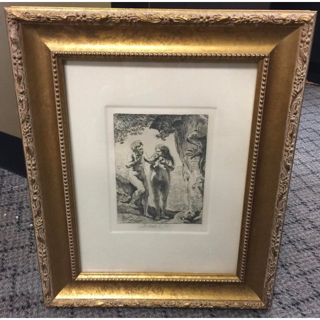 Copper Rembrandt Etching Adam & Eve For Sale - Image 7 of 7