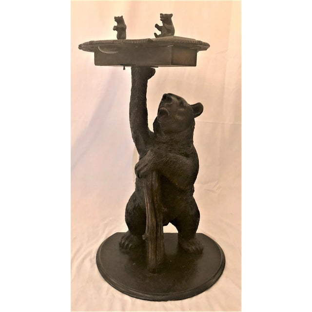 Wood Antique Black Forest Carved Oak Smoker's Stand, Circa 1880. For Sale - Image 7 of 7