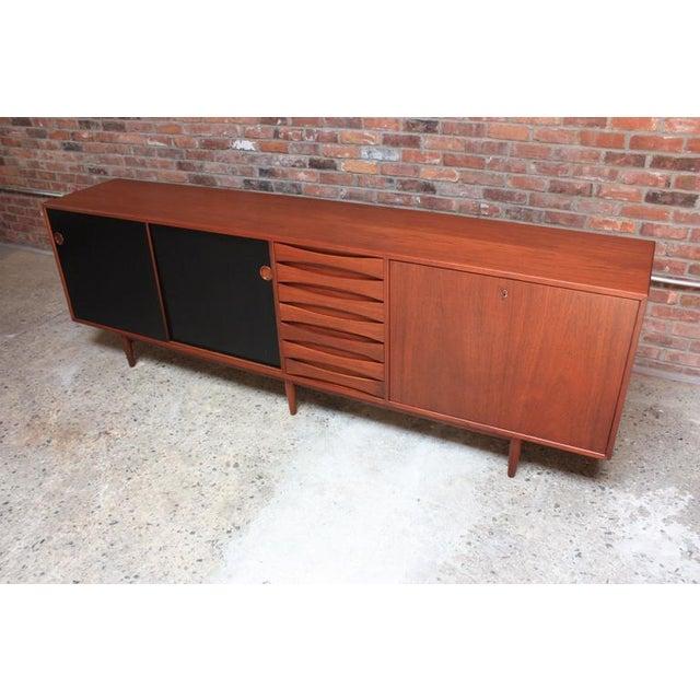 Danish Modern Arne Vodder Teak Credenza with Reversible Doors For Sale - Image 3 of 11
