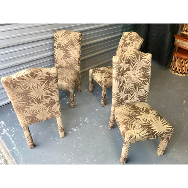 Art Deco Vintage Palm Beach Parson Chairs - Set of 4 For Sale - Image 3 of 9