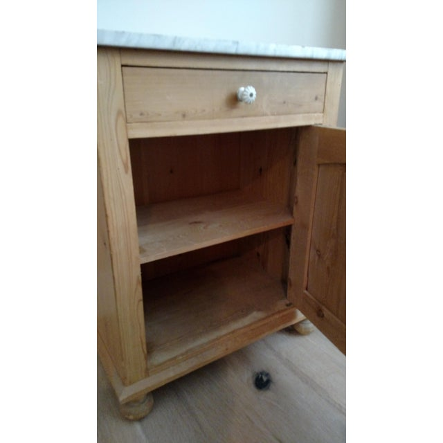 Antique Pine Swedish Nightstand - Image 9 of 9