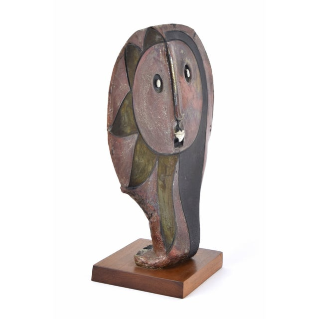 1980s Doug Delind Picasso-Like Abstracted Face Art Pottery Sculpture For Sale - Image 4 of 8