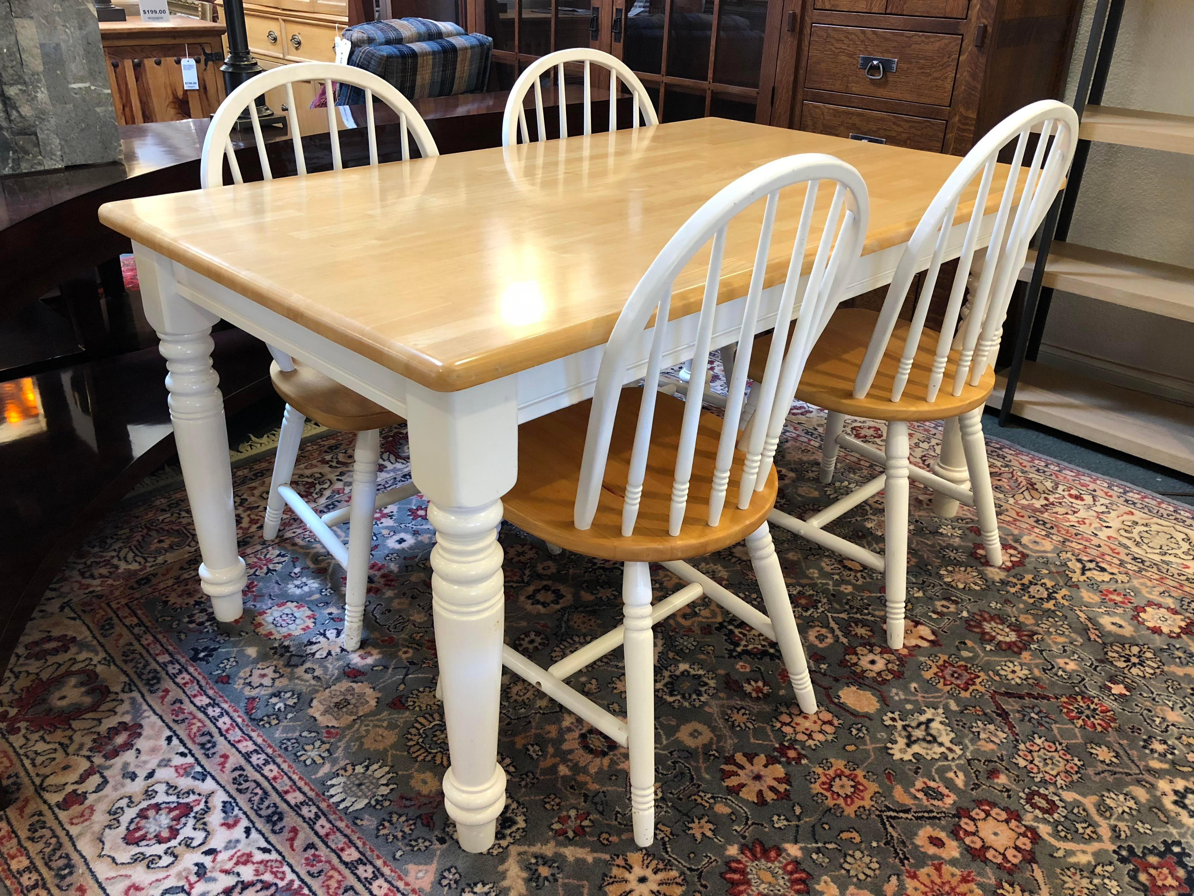 Delicieux This Is A Cottage Style Dining Set. Featuring Natural Matte Finish Wood  Surfaces Contrasted With