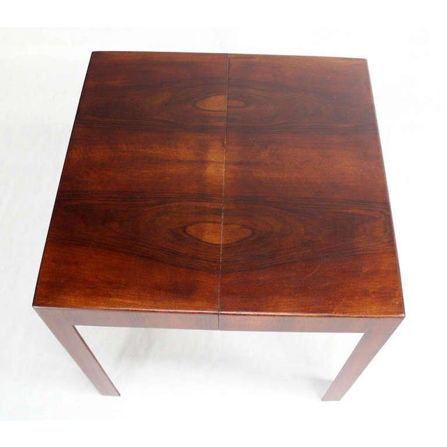 Walnut Oiled Walnut Italian Mid-Century Modern Game or Dining Table with One Leaf For Sale - Image 7 of 8