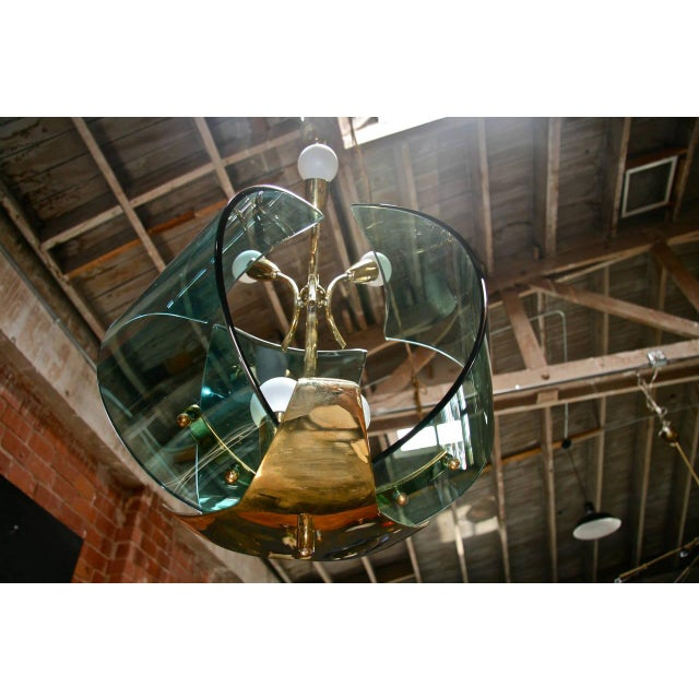 Italian Chandelier, 1950s For Sale In Los Angeles - Image 6 of 9