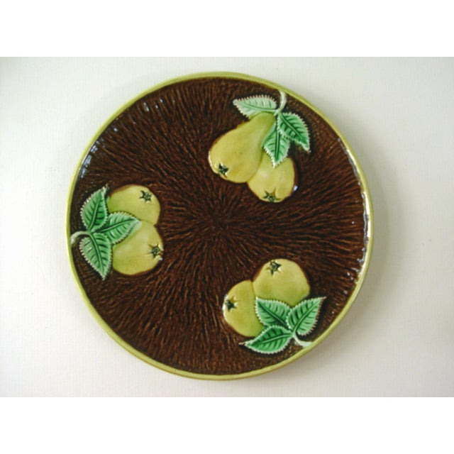 Vintage Majolica Plate With Pears - Image 2 of 3