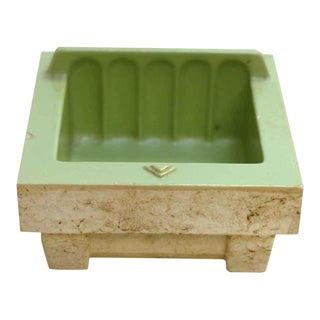 Mint Green Porcelain Soap Dish For Sale
