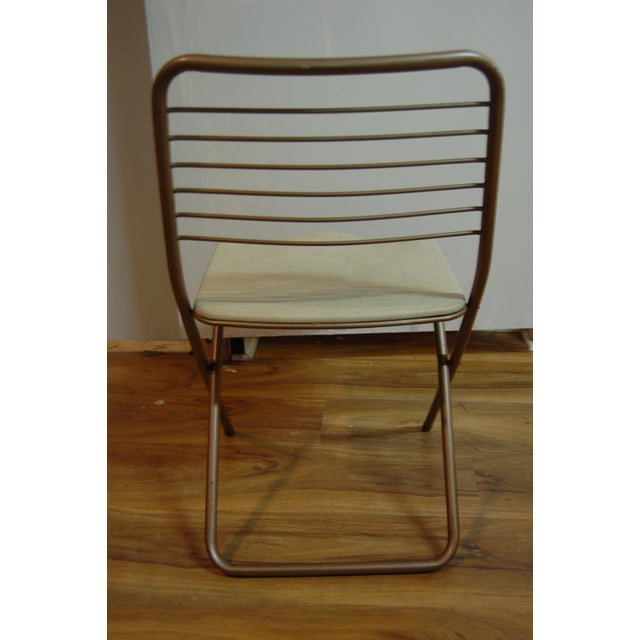 Vintage Stylaire Metal Folding Chairs - 4 For Sale - Image 9 of 9