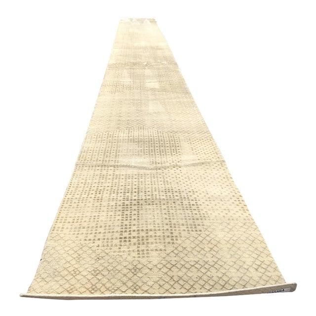 Beige Persian Wool Runner - 3′ × 30′ - Image 1 of 10