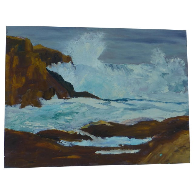 H.L. Musgrave Mid-Century Ocean Painting - Image 1 of 7