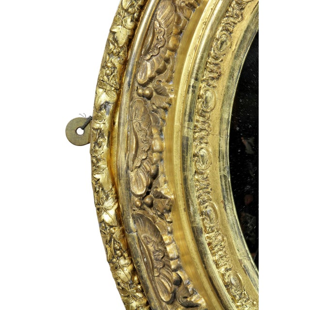 Victorian Giltwood Convex Mirror For Sale - Image 4 of 7