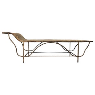 Antique Art Deco Period Steel Day Bed for Convalescing Factory Workers For Sale