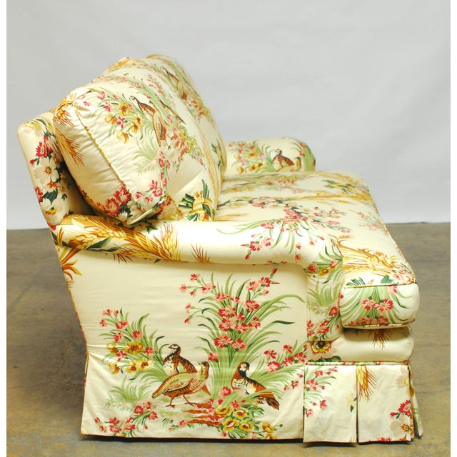 Brunschwig & Fils French Upholstered Toile Sofa For Sale In San Francisco - Image 6 of 10