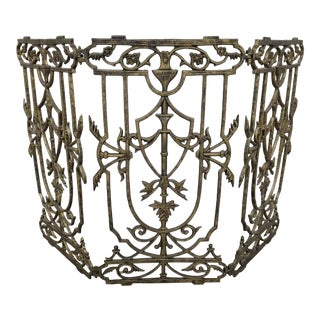 Antique Tri-Fold Fireplace Screen For Sale