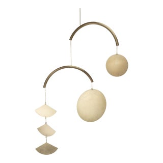 Corie Humble Bronze Curved Circle Mobile For Sale