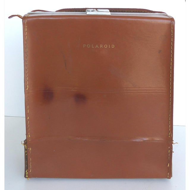 Mid-Century Modern Mid-Century Polaroid Camera in Original Leather Case For Sale - Image 3 of 9