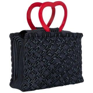 "Vintage Yves Saint Laurent ""In Love Again"" Heart Handle Bag For Sale"