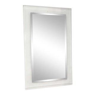 Custom Lucite Framed Mirror For Sale