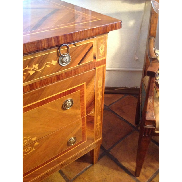 1960s Inlaid Italian Neoclassic Commode For Sale In West Palm - Image 6 of 13